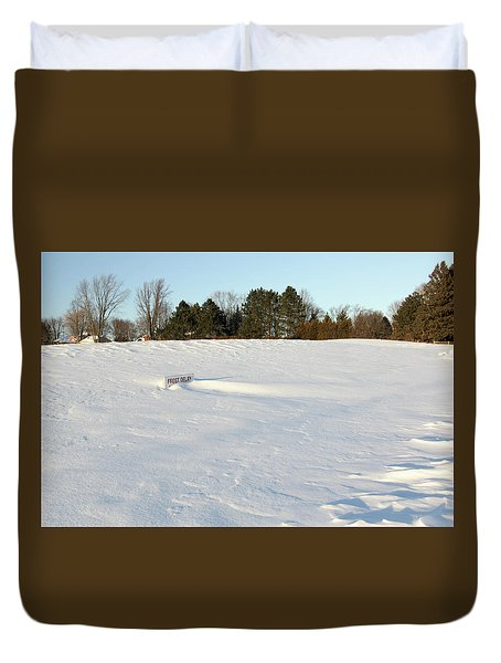 Frost Delay Duvet Cover