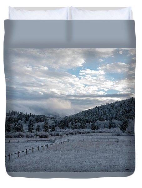 Frosted Sunrise 1 Duvet Cover