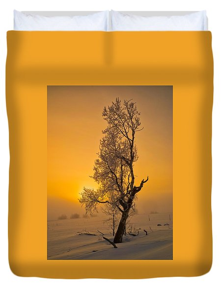 Frosted Tree Duvet Cover