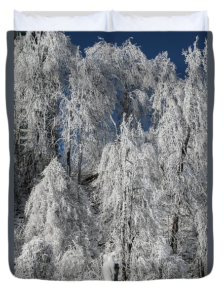 Frosted Trees Duvet Cover