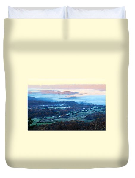Duvet Cover featuring the photograph Frosty Autumn by Candice Trimble