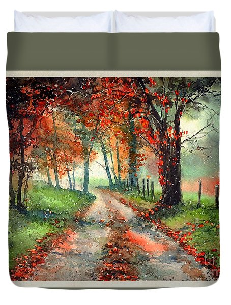 Frosty Autumn Patch Duvet Cover
