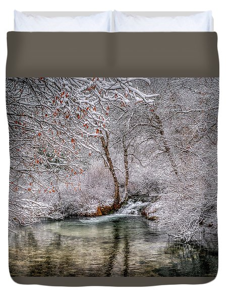Frosty Pond Duvet Cover