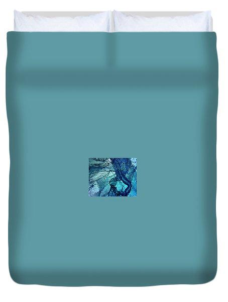 Frozen In Blue Duvet Cover