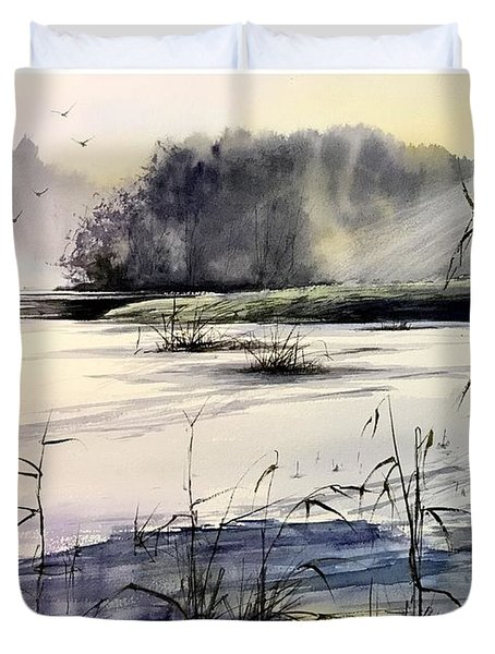 Frozen Pond Duvet Cover