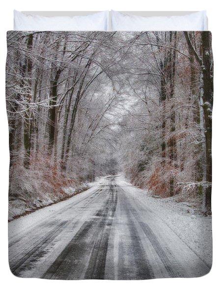 Frozen Road Duvet Cover