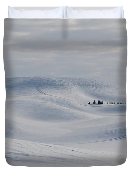 Frozen Winter Hills Duvet Cover