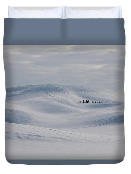 Frozen Winter Hills Duvet Cover