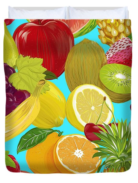 Fruit Mix Duvet Cover