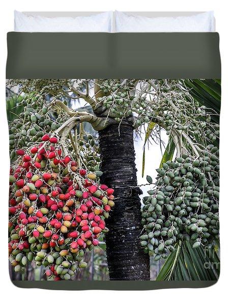 Fruity Palm Tree  Duvet Cover