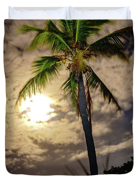 Full Moon Palm Duvet Cover