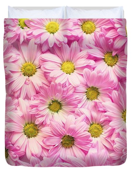 Full Of Pink Flowers Duvet Cover
