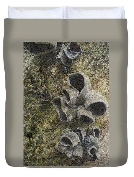 Fungi And Algae Duvet Cover