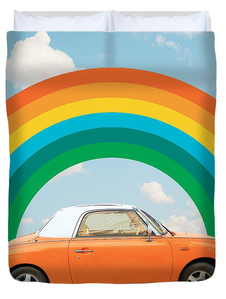 Funky Rainbow Ride Duvet Cover