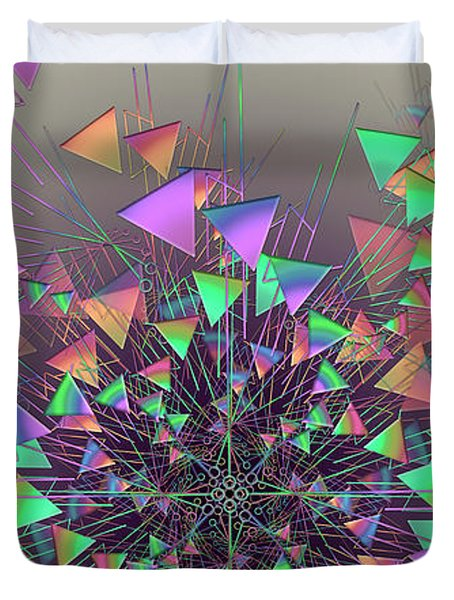Duvet Cover featuring the digital art Fusion by Vitaly Mishurovsky