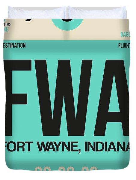 Fwa Fort Wayne Luggage Tag I Duvet Cover