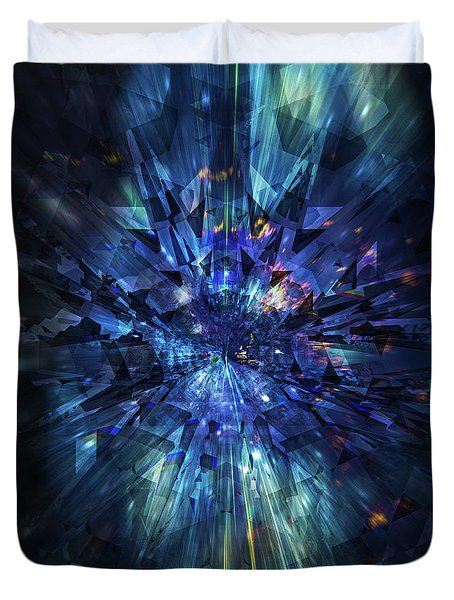 Galactic Crystal Duvet Cover