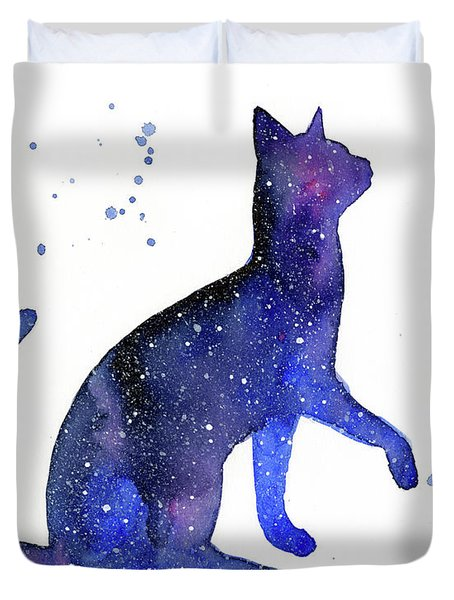 Galaxy Cat Duvet Cover