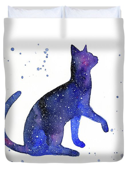 Galaxy Cat Duvet Cover