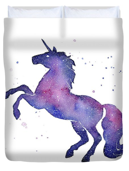 Galaxy Unicorn Duvet Cover