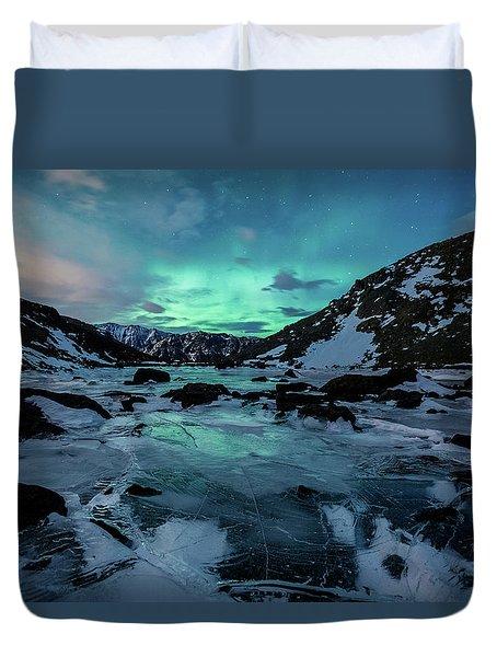 Gale-force Aurora H Duvet Cover