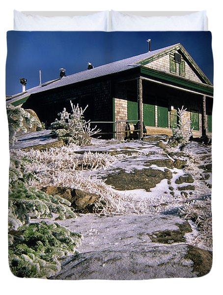 Duvet Cover featuring the photograph Galehead Hut - Appalachian Trail, New Hampshire  by Erin Paul Donovan
