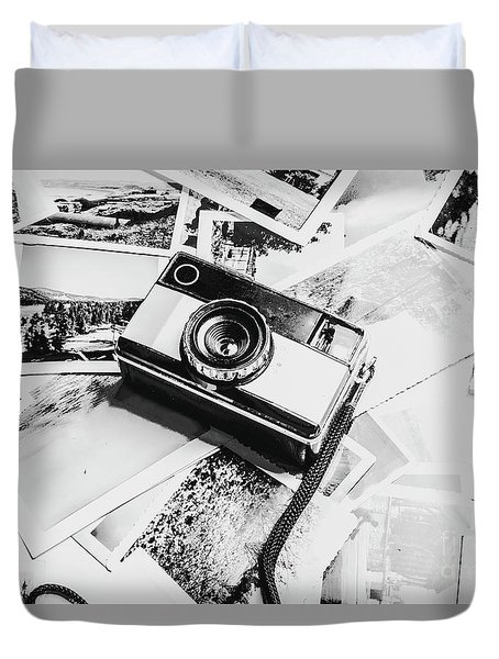 Gallery In Monochrome Duvet Cover