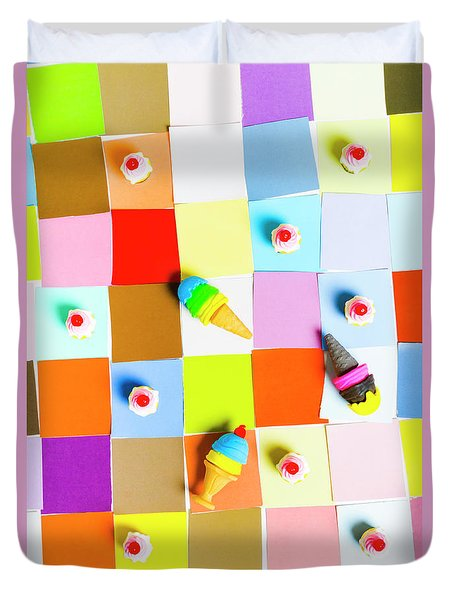 Gaming Desserts Duvet Cover