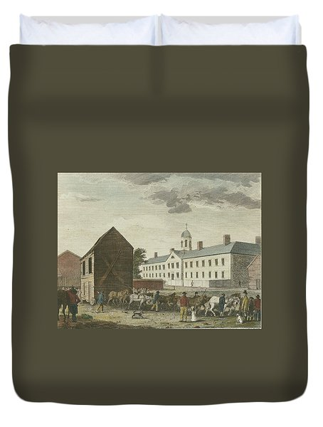 Gaol In Walnut Street Duvet Cover