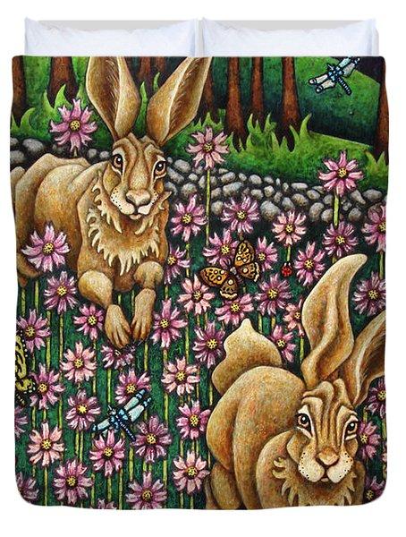 Garden Frolic  Duvet Cover