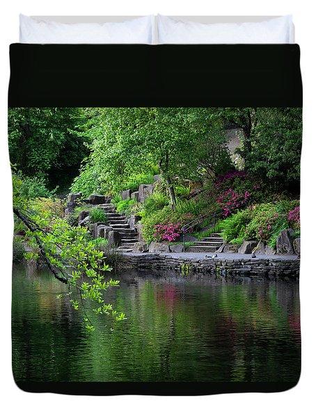 Garden Reflections Duvet Cover