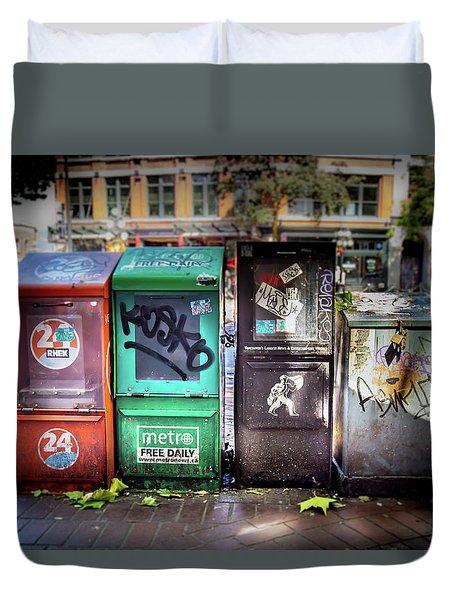Gastown Street Newsstand Duvet Cover