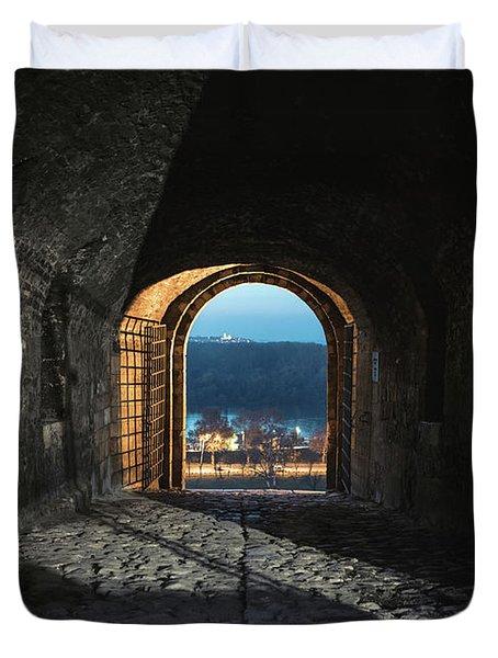 Gate At Kalemegdan Fortress, Belgrade Duvet Cover