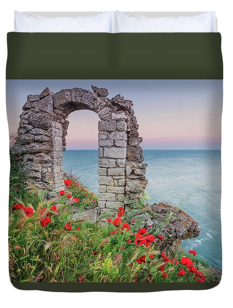 Gate In The Poppies Duvet Cover