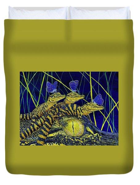 Gator Nursery  Duvet Cover