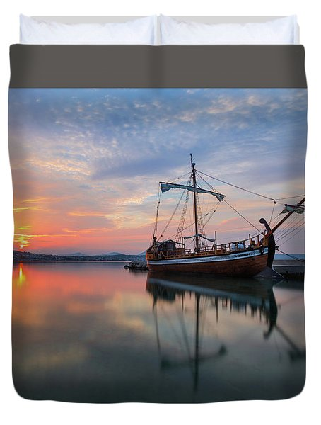 Duvet Cover featuring the photograph Gaul by Davor Zerjav