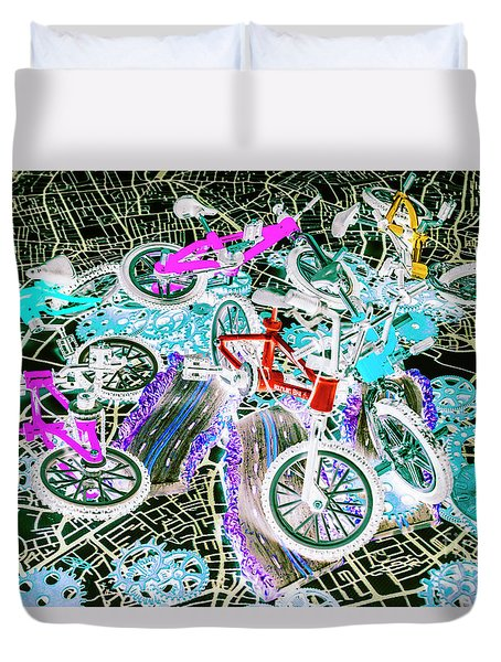Gearing Up Duvet Cover