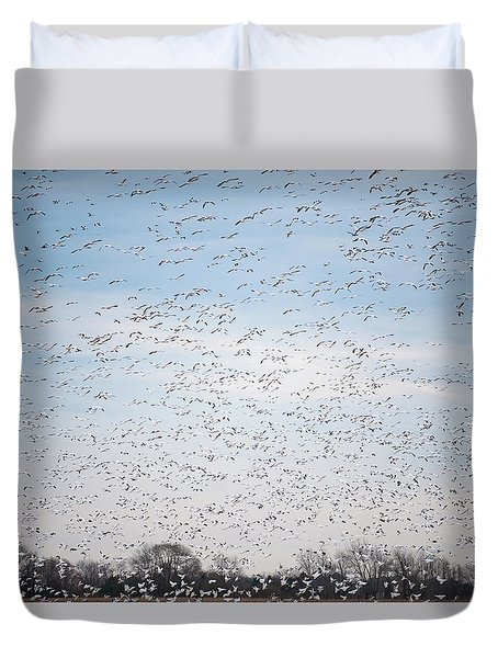 Geese In The Flyway Duvet Cover