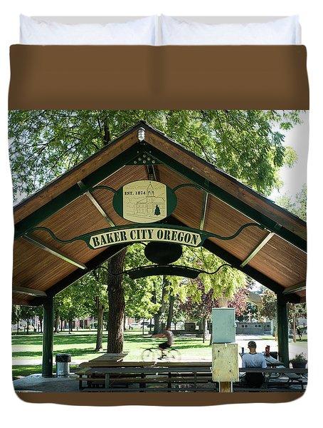 Geiser Pollman Park Shelter Duvet Cover