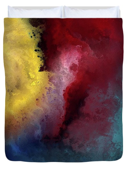 Genesis 1 3. Let There Be Light Duvet Cover