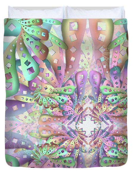 Duvet Cover featuring the digital art Genome Remix Two by Vitaly Mishurovsky
