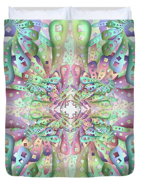 Duvet Cover featuring the digital art Genome by Vitaly Mishurovsky