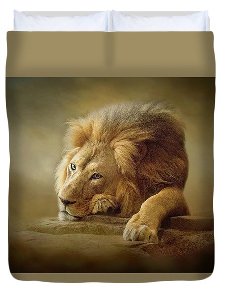 Duvet Cover featuring the digital art Gentle Soul by Nicole Wilde