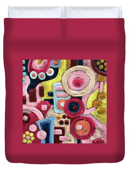Geometric Abstract 1 Duvet Cover