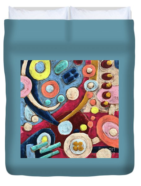 Geometric Abstract 2 Duvet Cover