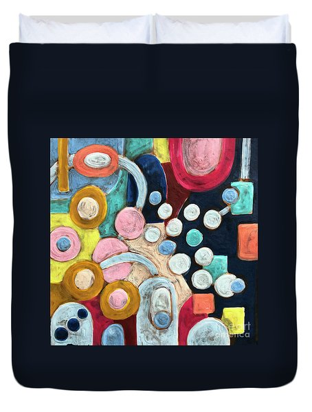 Geometric Abstract 3 Duvet Cover