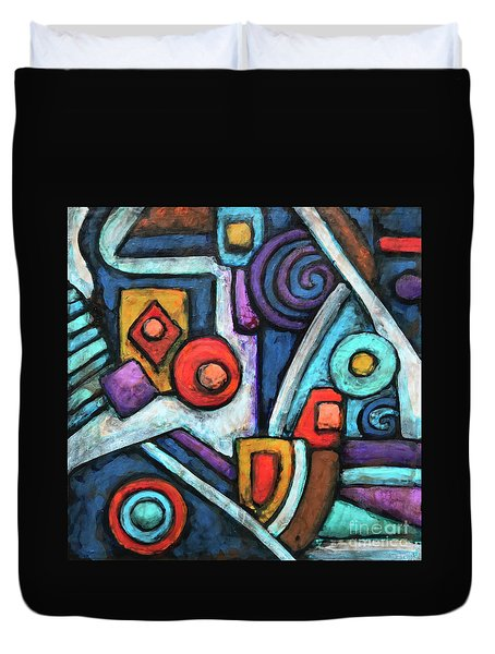 Geometric Abstract 4 Duvet Cover