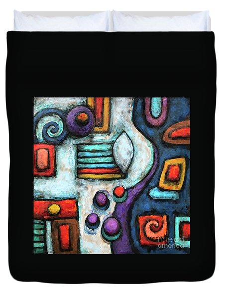 Geometric Abstract 5 Duvet Cover