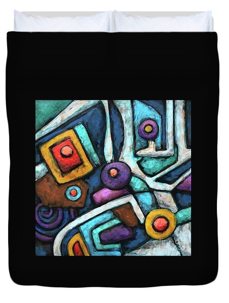Geometric Abstract 6 Duvet Cover