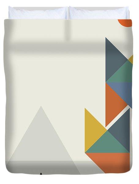 Geometric Painting 14 Duvet Cover